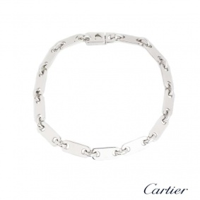 Cartier 18k White Gold Rectangular Link Bracelet